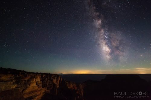 North Rim Milky Way